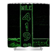As Pure As It Gets In Green Neon Shower Curtain
