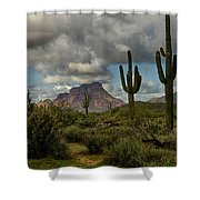As The Clouds Pass By  Shower Curtain