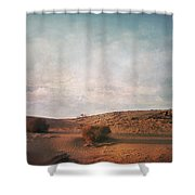 As The Sand Shifts So Do I Shower Curtain by Laurie Search