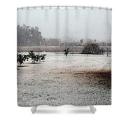As The Snow Falls Shower Curtain