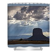 As The Storm Moves In Shower Curtain