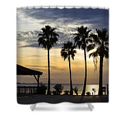 As The Sun Sets South Padre Island Texas Shower Curtain