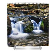 As The Water Flows  Shower Curtain