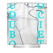 As Turquoise Text Shower Curtain