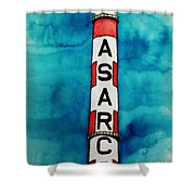 Asarco In Watercolor Shower Curtain