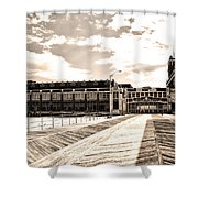 Asbury Park Boardwalk And Convention Center Shower Curtain