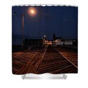 Asbury Park Boardwalk At Night Shower Curtain