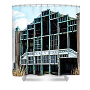 Asbury Park Casino - My City In Ruins Shower Curtain by Bill Cannon