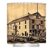 Asbury Park New Jersey Ormerod Boat Builder Shower Curtain