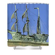 Asbury Park Nj Convention Hall Ship  Shower Curtain