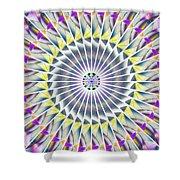 Ascending Eye Of Spirit Kaleidoscope Shower Curtain by Derek Gedney