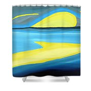 Ascending Light Into The New Dawn Of Time Shower Curtain