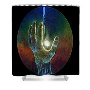 Ascension Of The Soul Shower Curtain by Kd Neeley