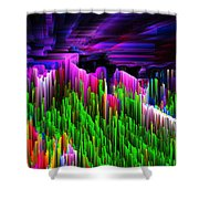 Asgard Roof Of The World Shower Curtain
