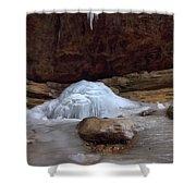 Ash Cave Frozen Over Shower Curtain