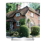 Ashers Farmhouse Five Bells Lane Nether Wallop Shower Curtain