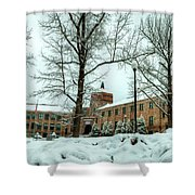 Asheville High School During Winter Shower Curtain