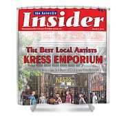 Asheville Insider Magazine Shower Curtain
