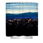Asheville Skyline Shower Curtain