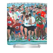 Ashland Half Marathon Shower Curtain