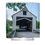 Ashtabula Collection - Mechanicsville Road Covered Bridge 7k0207 Shower Curtain