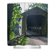 Ashtabula Collection - Middle Road Covered Bridge 7k01959 Shower Curtain