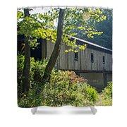 Ashtabula Collection - Olin's Covered Bridge 7k01977 Shower Curtain