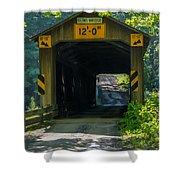 Ashtabula Collection - Olin's Covered Bridge 7k01978 Shower Curtain