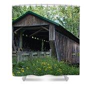 Ashtabula Collection - Riverdale Road Covered Bridge 7k02981 Shower Curtain