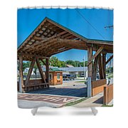 Ashtabula Collection - West Liberty Covered Bridge 7k02064 Shower Curtain