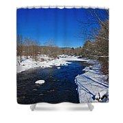 Ashuelot River In Winter Shower Curtain