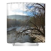 Ashuelot Sunrise Shower Curtain