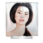 Asian Beauty Shower Curtain