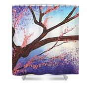 Asian Bloom Triptych 1 Shower Curtain