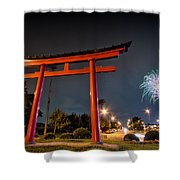 Asian Fireworks Shower Curtain