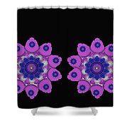Asian Purple Orchids Shower Curtain