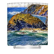 Aspargus Island Shower Curtain