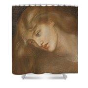 Aspecta Medusa Shower Curtain by Dante Charles Gabriel Rossetti