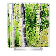 Aspen Grove 6 Shower Curtain