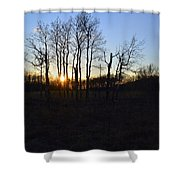 Aspen Prairie Sunset Shower Curtain