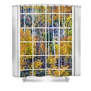 Aspen Tree Magic Cottonwood Pass White Window Portrait View Shower Curtain by James BO  Insogna
