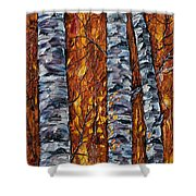 White Trees  Original Oil Painting  Shower Curtain