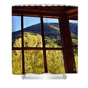 Aspen Window 2 Shower Curtain