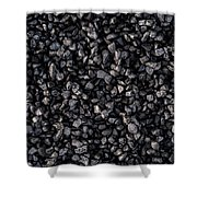 Asphalt Gravel Shower Curtain by Hakon Soreide