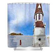 Aspiring Chapel Impasto Shower Curtain