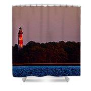 Assateague Lighthouse At Sunset Shower Curtain