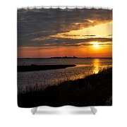 Assateague Sunrise Vertical Shower Curtain