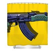 Assault Rifle Pop Art - 20130120 - V2 Shower Curtain