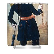Assiniboine Warrior In Regimental Shower Curtain