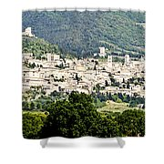 Assisi Italy - Medieval Hilltop City Shower Curtain